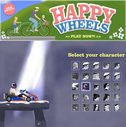 Select your character Happy Wheels