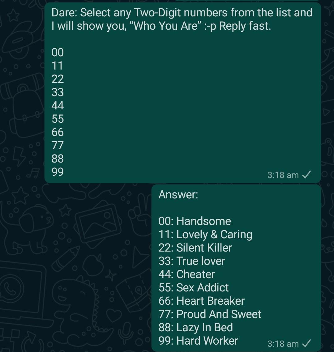Naughty Whatsapp Dare Games