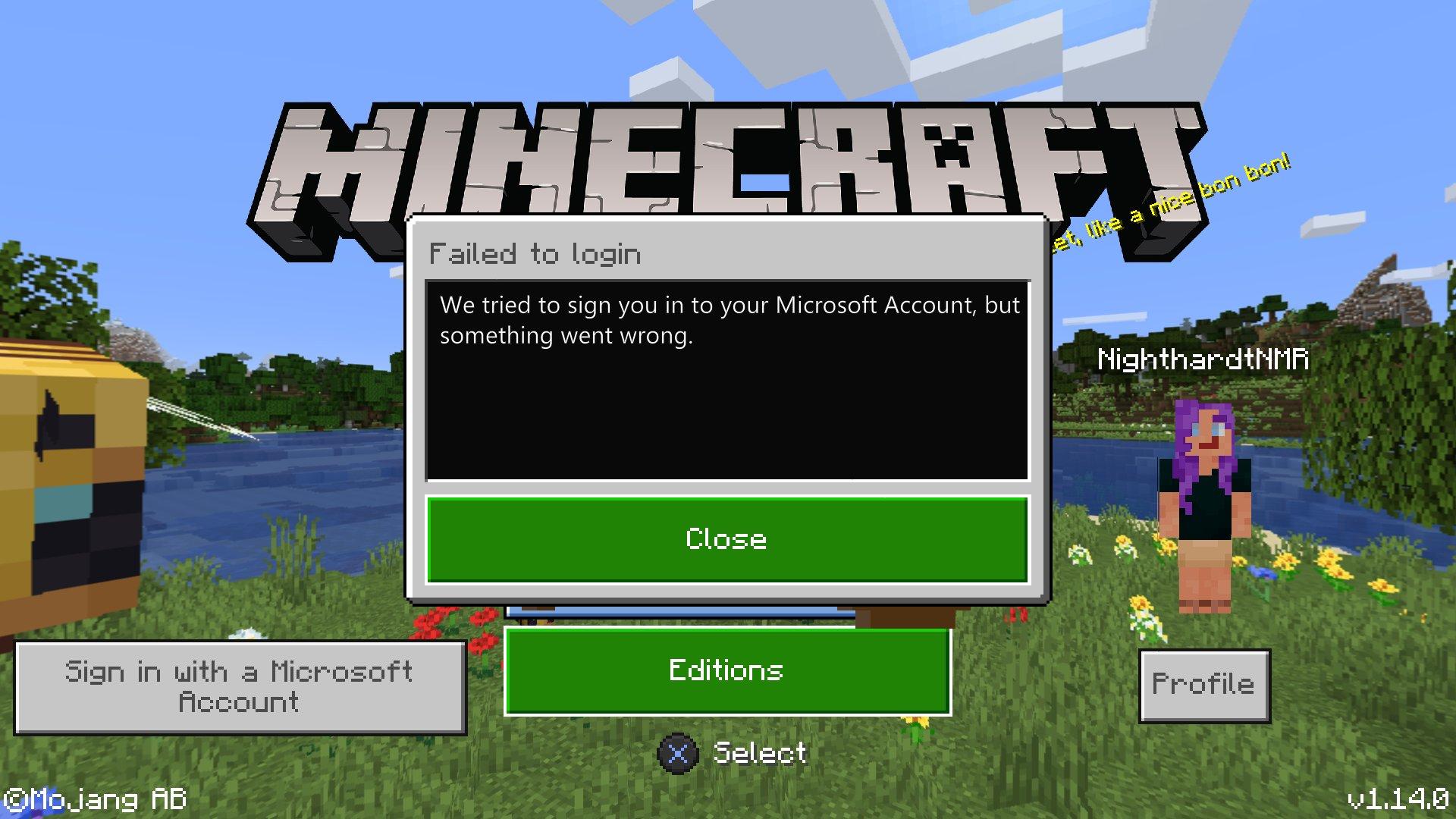 Minecraft Sign In