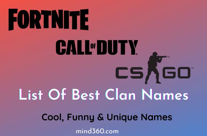 Best Clan Names 2021