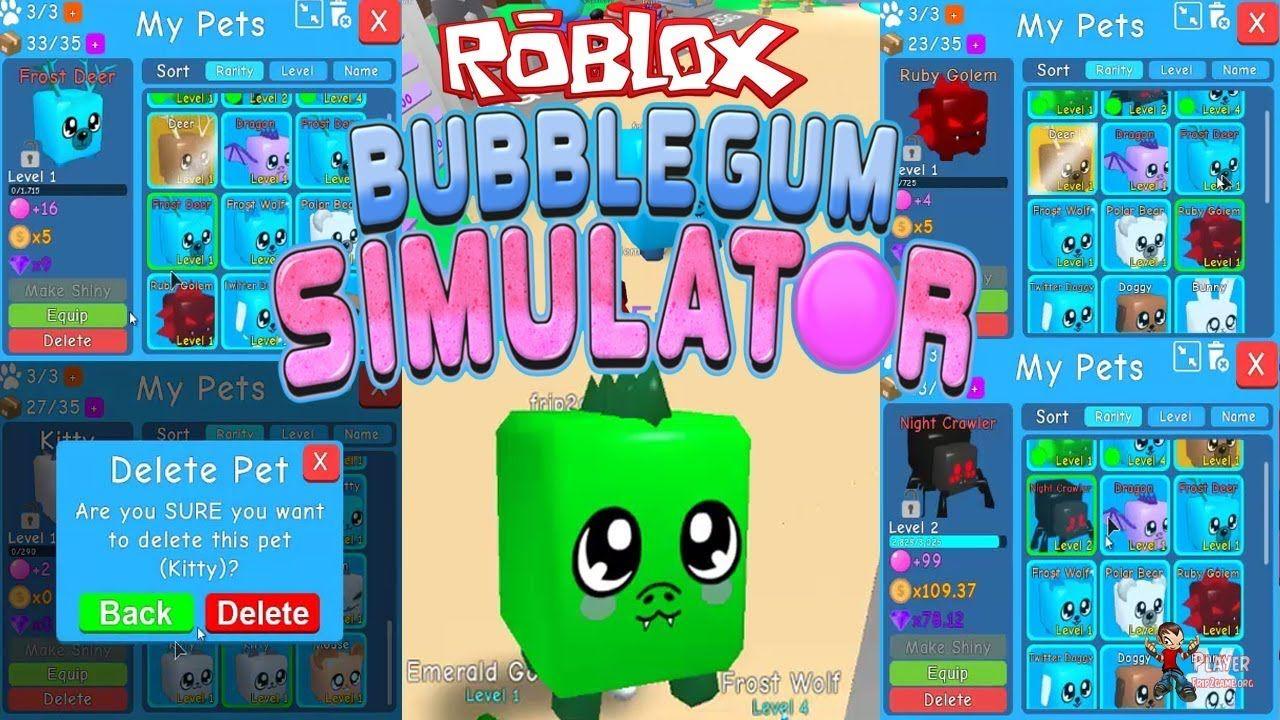 Roblox Bubble Gum Simulator List